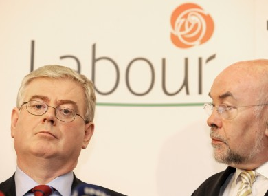 Eamon Gilmore and Ruairí Quinn both signed a pledge not to increase student fees