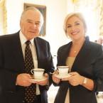 Former taoiseach Albert Reynolds with former minster Liz O'Donnell.