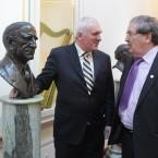 Bertie Ahern and John Hume