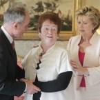 Former minister Mary O'Rourke at Áras an Uachtaráin.