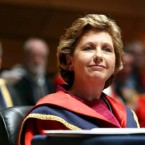 McAleese was conferred with honorary degrees from numerous universities, including the Royal College of Surgeons and Dublin City University (pictured here).
