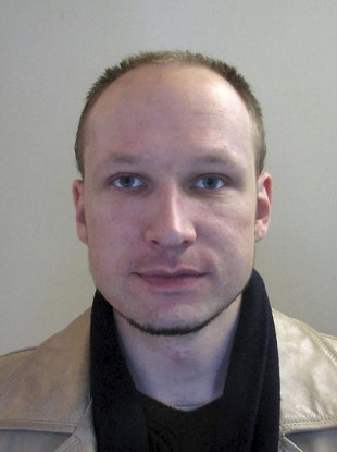 A file image issued by Norwegian police of confessed mass killer Anders Behring Breivik