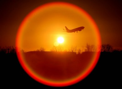 January 2011 file photo of a plane taking off from Dublin Airport.