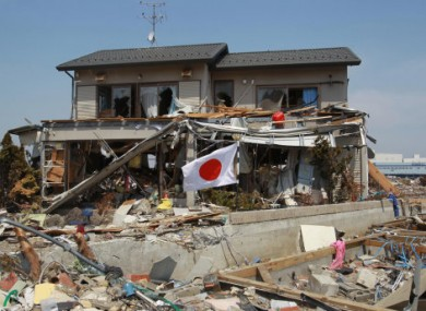 File photo of a house in Japan's Miyagi Prefecture which was destroyed by the 11 March earthquake and tsunami.