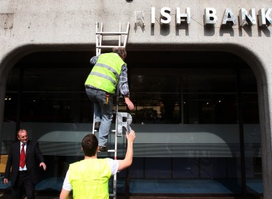 The sign and the bank known as Anglo Irish may be gone but it continues to prove problematic for the government.