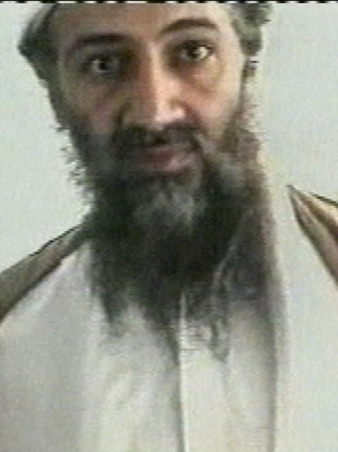An undated image of Osama bin Laden