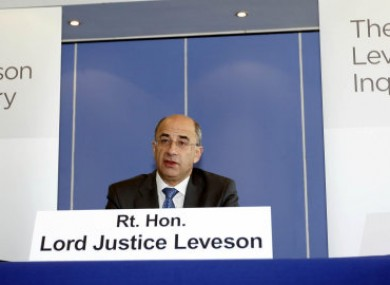 Judge Brian Leveson, who is heading the media ethics inquiry.