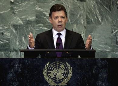 File photo of Colombia's President Juan Manuel Santos