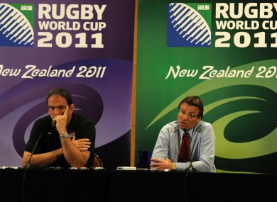 The future of RFU Operations Director Rob Andrew (right) is in doubt as a result of the document leaks.
