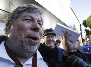 Tech-enthusiast Wozniak waited 20 hours in line to be the first Apple customer at the Los Gatos Apple store to buy the new iPhone
