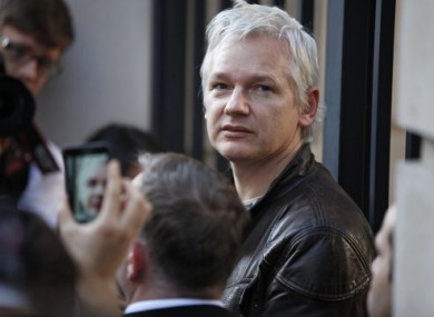 Assange photographed in London last month.