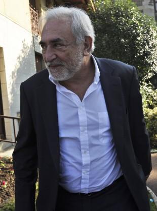 Strauss-Kahn in Sarcelles, near Paris last month.