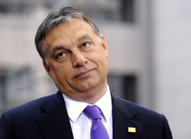 Hungarian PM Viktor Orban at a recent EU summit in Brussels.