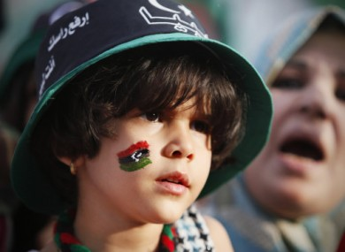 A young girl looks on during Libya's liberation celebrations in Tripoli late last month.