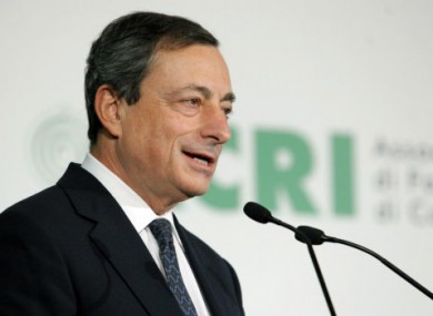 New ECB chief Mario Draghi