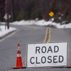A portion of road in Newton, New Jersey (AP Photo/Rich Schultz)