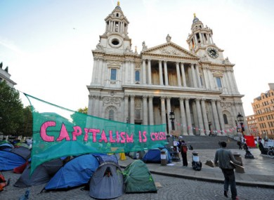 File photo of the Occupy LSX camp at St Paul's.