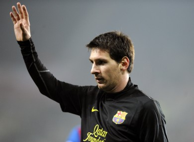 Messi won the FIFA World Player of the Year award in 2009 and 2010.