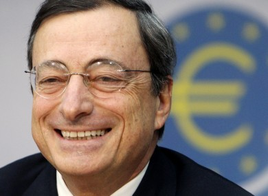 Mario Draghi was all smiles at a press conference yesterday.