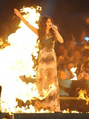 Selena Gomez at The MTV European Music Awards 2011, The Odyssey Arena, Belfast