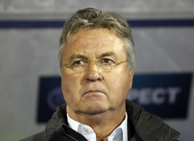Hiddink has managed five international teams in to