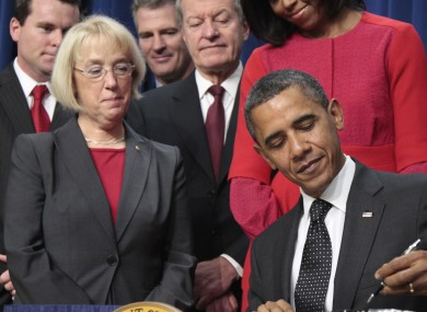 Barack Obama has blamed Republicans for failing to strike a deal in the deficit reduction committee, co-chaired by Democrat senator Patty Murray (left).