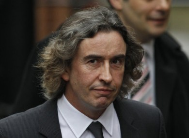 Comedian and actor Steve Coogan arriving to give evidence today.