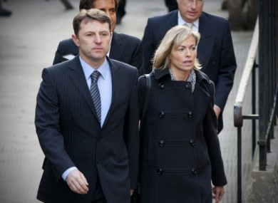 Gerry and Kate McCann arriving to give evidence at the Leveson inquiry today.