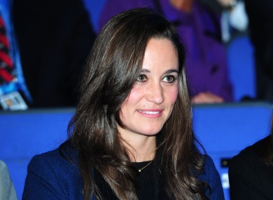 Pippa Middleton watches the ATP game between Switzerland's Roger Federer and France's Jo Wilfred-Tsonga in London yesterday.