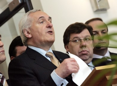 The pensions of former Taoisigh Bertie Ahern and Brian Cowen are being cut by around €80 a week under the government's new regime.