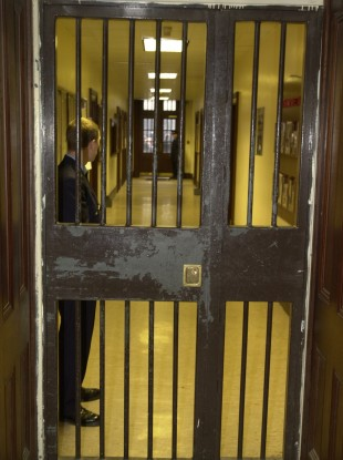 Staff working inside Mountjoy Prison.