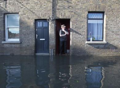 Martin Murphy of Kilmainham surveys the damage on 25 October.