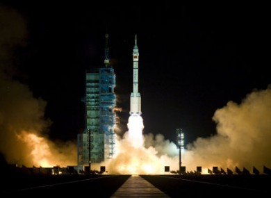 China launched a rocket from the Gobi desert at dawn today as it moves forward with plans for a manned space station.
