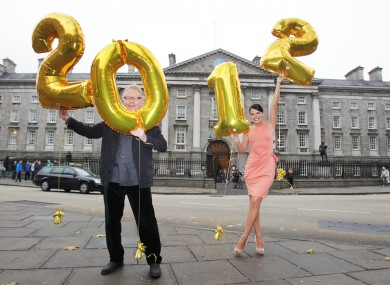 Musician Paul Brady and Michelle McGrath launch the New Year's Eve Countdown concert in Dublin's College Green in November