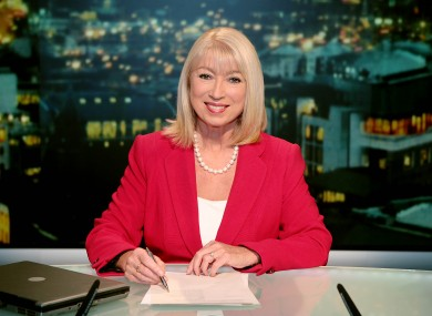 Anne Doyle shortly before the news broadcast began tonight