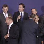 Enda Kenny with other EU leaders back on 24 March. Pic: AP Photo/Michel Euler