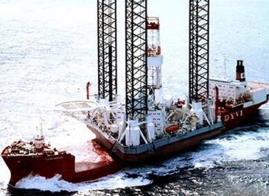 Undated handout image of the Kolskaya oil platform in the Sea of Okhotsk.