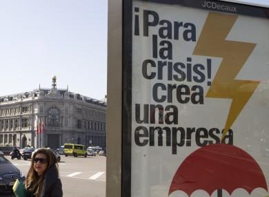 A billboard in Spain reads: