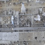 Aerial photo taken 20 March, 2011 by a small unmanned drone of the damaged Unit 4, left, and Unit 3 of the crippled Fukushima Dai-ichi nuclear power plant. (AP Photo/AIR PHOTO SERVICE/PA Images)