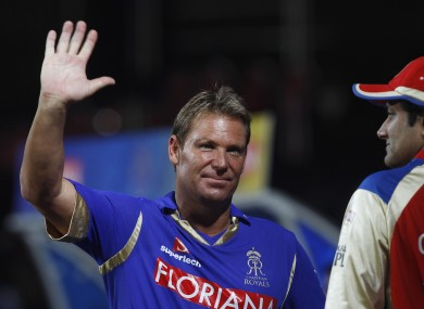 Warne during his playing days with Rajasthan Royals.