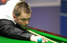 Gagged: Mark Allen stages silent protest at UK Championship