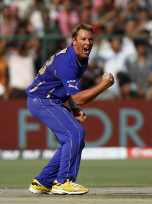 Warne playing in the Indian Premier League back in April.