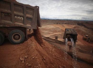 File photo of a mine at Huaypetue, Madre de Dios, Peru