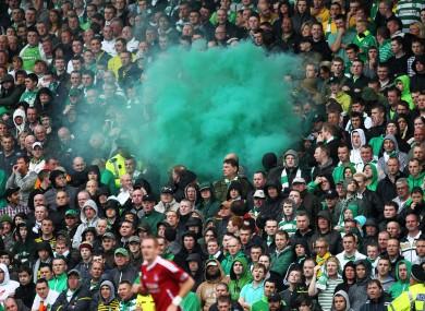 A file photo of Celtic fans.