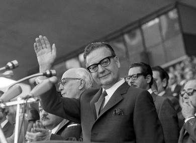 Chile's President Salvador Allende in Buenos Aires, Argentina, May 26,1973
