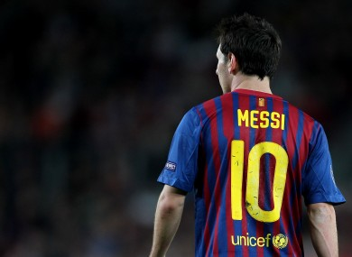 Lionel Messi, one of three nominees on FIFA's shortlist.