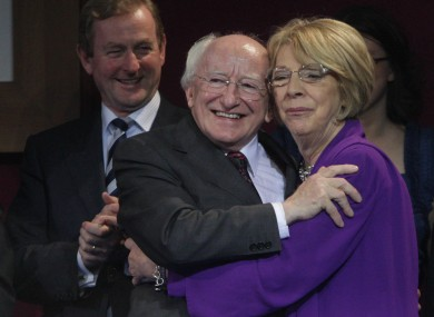 Michael D and Sabina on the night of the presidential count