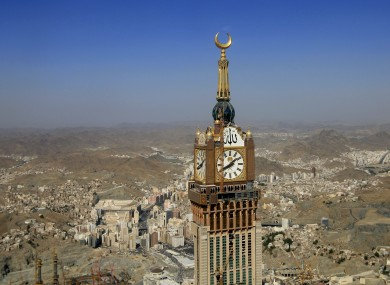 Aerial view of the city of Mecca