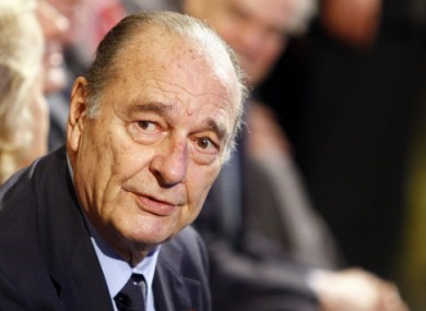 Jacques Chirac photographed in Paris in late November 2011.