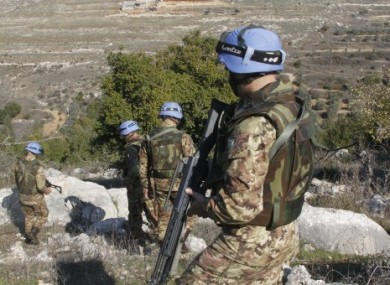 File photo of UNIFIL peacekeepers in south Lebanon.